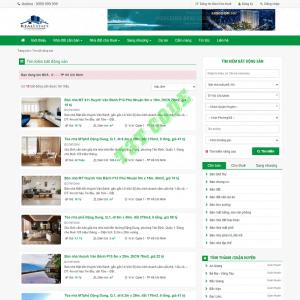 Theme web wordpress flatsome bất động sản 04