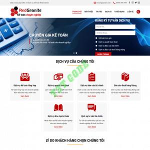 Theme web wordpress flatsome công ty kế toán 02