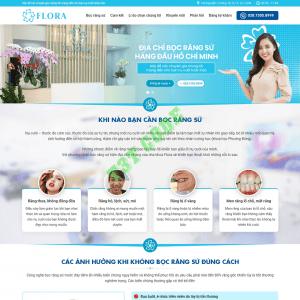 Theme web wordpress flatsome dịch vụ nha khoa 02