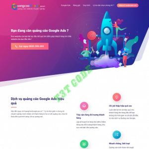 Theme web wordpress flatsome landing page dịch vụ chạy quảng google
