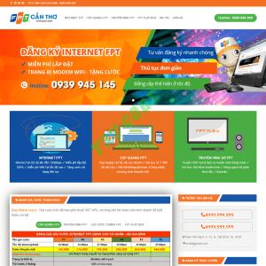 Theme web wordpress flatsome lắp mạng fpt