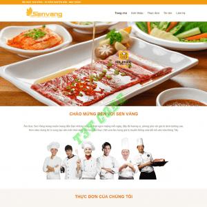 Theme web wordpress flatsome nhà hàng ẩm thực 02